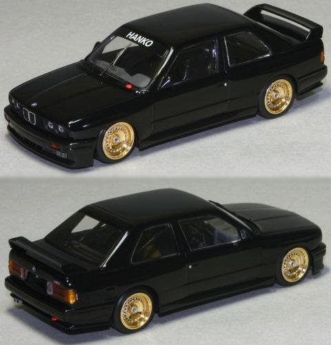 1987 BMW M3 E30 Black Exclusive for HANKO. Hersteller: MINICHAMPS